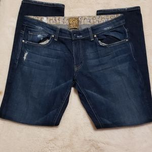 Rich& Skinny Blue Jeans Made in USA size 30